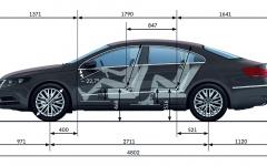 Volkswagen CC wymiary