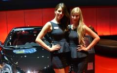 Dziewczyny salonu samochodowego we Frankfurcie 2013