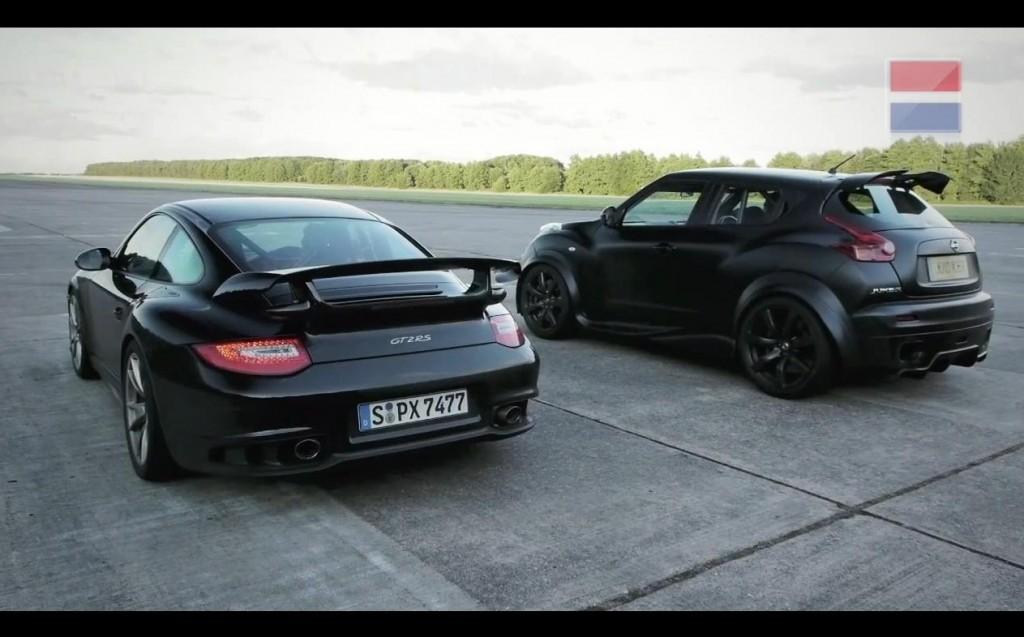 Nissan Juke-R vs. Porsche 911 GT2 RS
