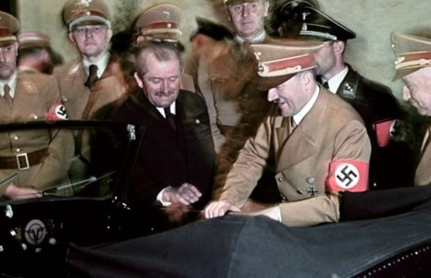 Ferdynand Porsche i Adolf Hitler