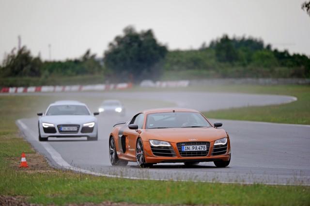 Audi R8 V10 Plus tor Poznań Audi Sportscar Experience