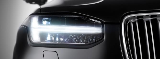 Nowe Volvo XC90 swiatla LED