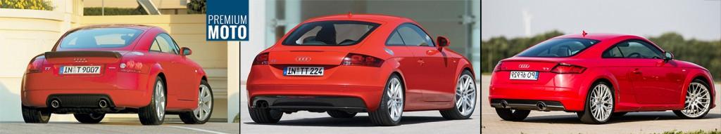 Audi TT trzy generacje porownanie