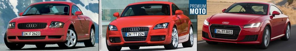 Audi TT trzy generacje przod