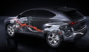 Lexus NX 300h uklad napedowy