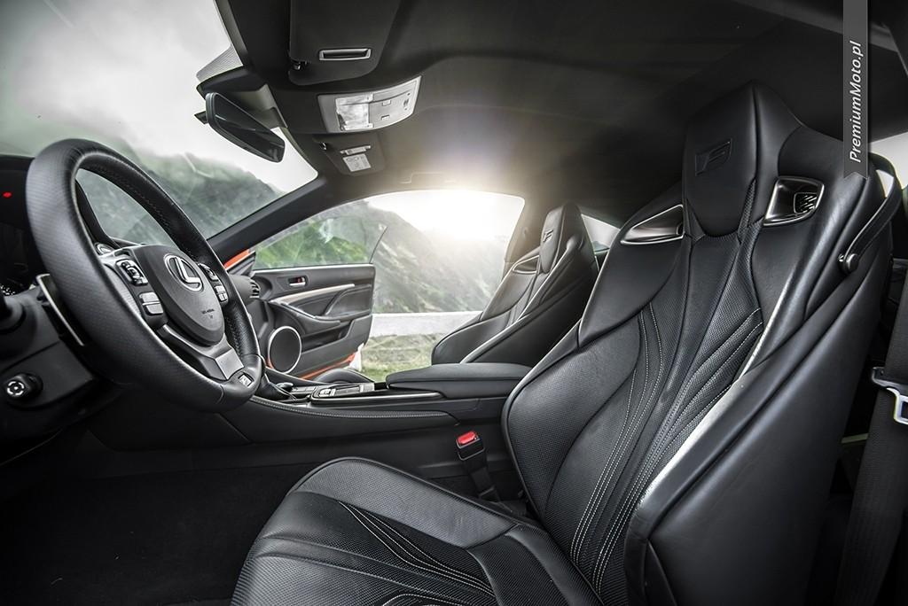 Lexus RC-F fotele