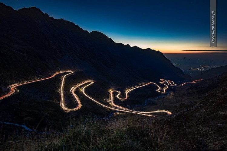 Trasa Transfogarska nocą