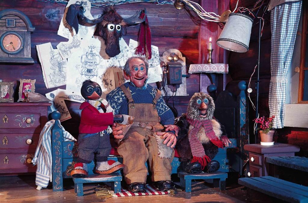 Główni bohaterowie Pinchcliffe Grand Prix. Od lewej: sroka Sonny Duckworth, Theodore Rimspoke (w oryginale Reodor Felgen) oraz pesymistyczny i melancholijny jeż Lambert (w wersji oryginalnej Ludvig)