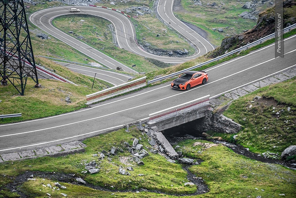 Lexus RC-F Carbon trasa transfogarska