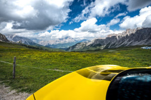 ford mustang w dolomitach 74