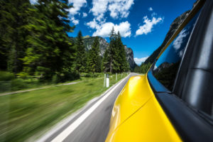 ford mustang w dolomitach 87