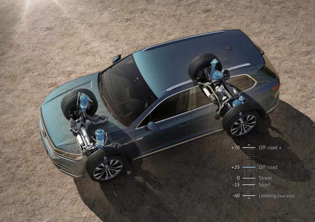 nowy Volkswagen Touareg zawieszenie pneumatyczne