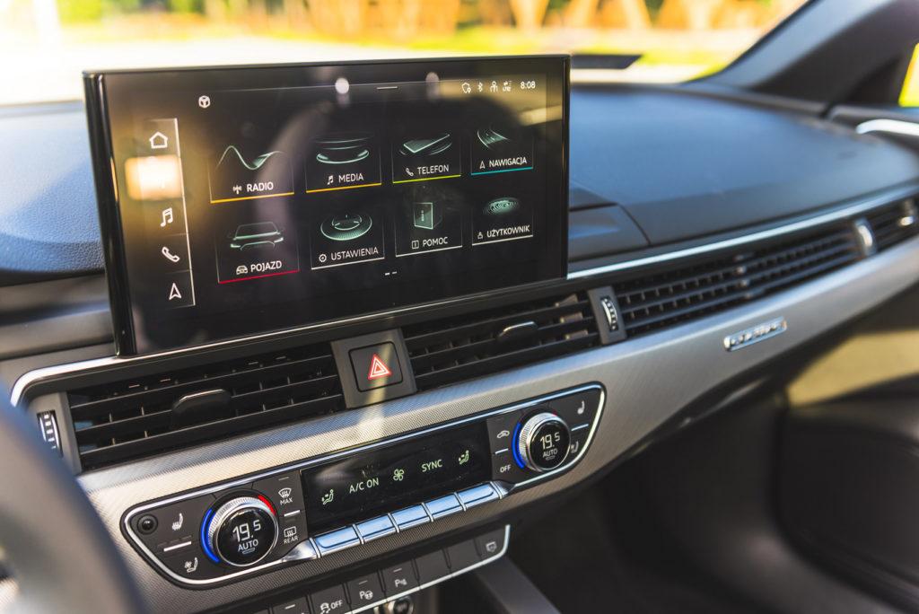 nowe audi A4 S4 2020 ekran multimedialny